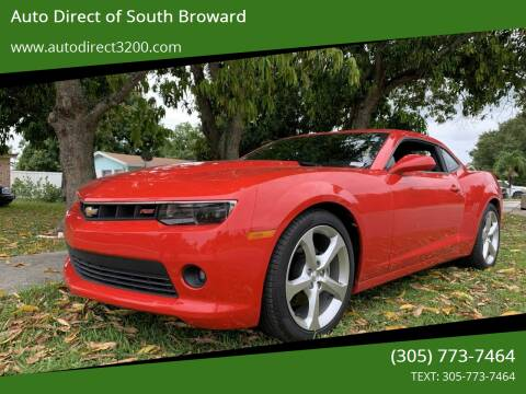 2015 Chevrolet Camaro for sale at Auto Direct of South Broward in Miramar FL