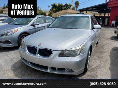 2008 BMW 5 Series for sale at Auto Max of Ventura in Ventura CA