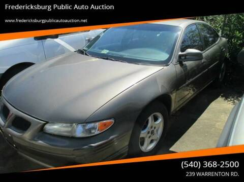 2001 Pontiac Grand Prix for sale at FPAA in Fredericksburg VA