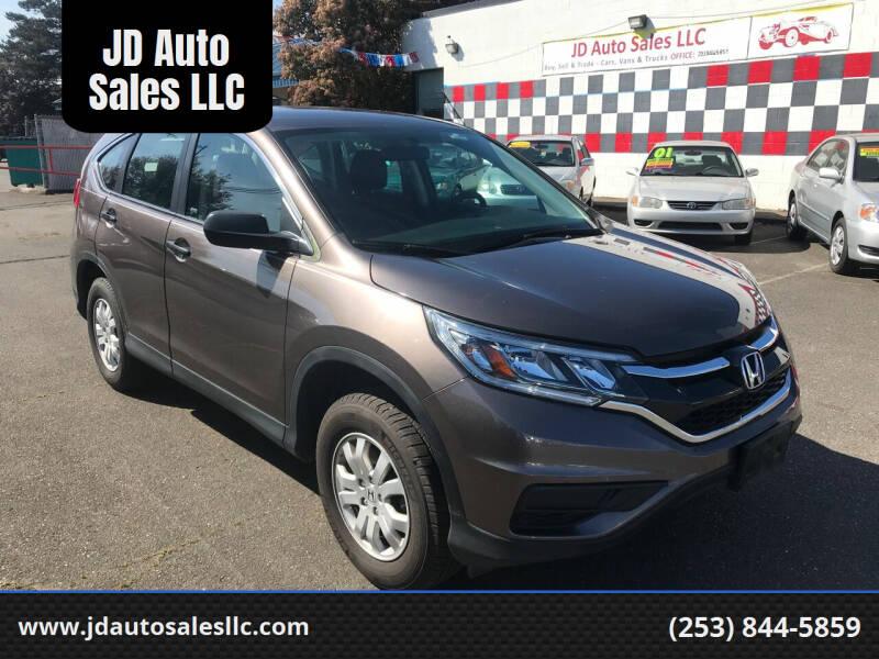 2015 Honda CR-V for sale at JD Auto Sales LLC in Fife WA