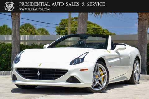 2015 Ferrari California T for sale at Presidential Auto  Sales & Service in Delray Beach FL
