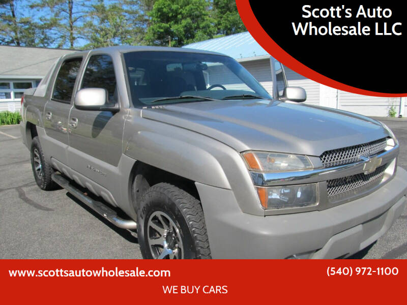 2002 Chevrolet Avalanche for sale at Scott's Auto Wholesale LLC in Locust Grove VA