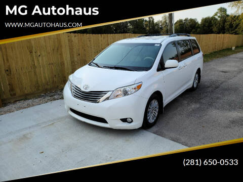 2014 Toyota Sienna for sale at MG Autohaus in New Caney TX