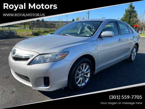 2010 Toyota Camry Hybrid for sale at Royal Motors in Hyattsville MD
