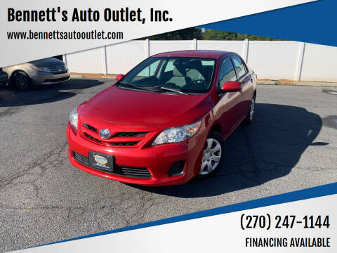 2012 Toyota Corolla for sale at Bennett's Auto Outlet, Inc. in Mayfield KY