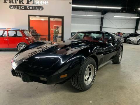1977 Chevrolet Corvette for sale at PARK PLACE AUTO SALES in Houston TX