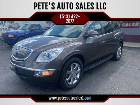 2009 Buick Enclave for sale at PETE'S AUTO SALES LLC - Middletown in Middletown OH