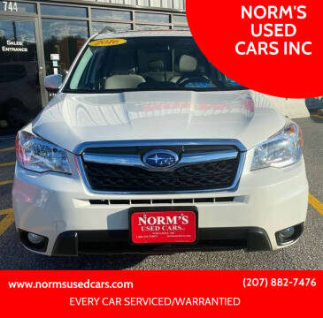 2016 Subaru Forester for sale at NORM'S USED CARS INC in Wiscasset ME