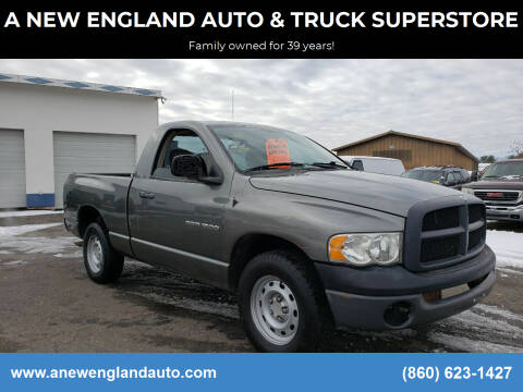 2005 Dodge Ram Pickup 1500 for sale at A NEW ENGLAND AUTO & TRUCK SUPERSTORE in East Windsor CT