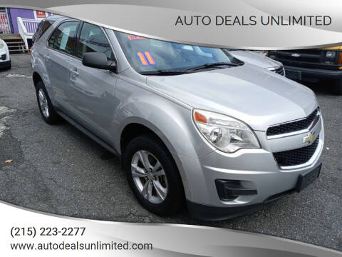2011 Chevrolet Equinox for sale at AUTO DEALS UNLIMITED in Philadelphia PA