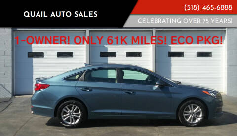 2016 Hyundai Sonata for sale at Quail Auto Sales in Albany NY
