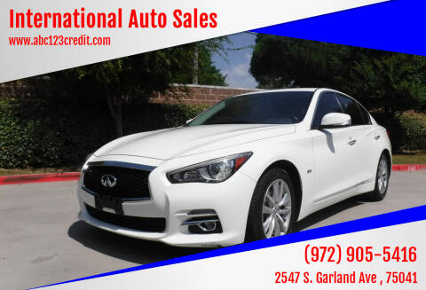 2017 Infiniti Q50 for sale at International Auto Sales in Garland TX
