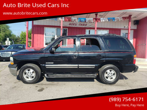 2003 Chevrolet Tahoe for sale at Auto Brite Used Cars Inc in Saginaw MI