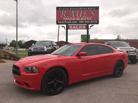 2014 Dodge Charger for sale at RAUL'S TRUCK & AUTO SALES, INC in Oklahoma City OK