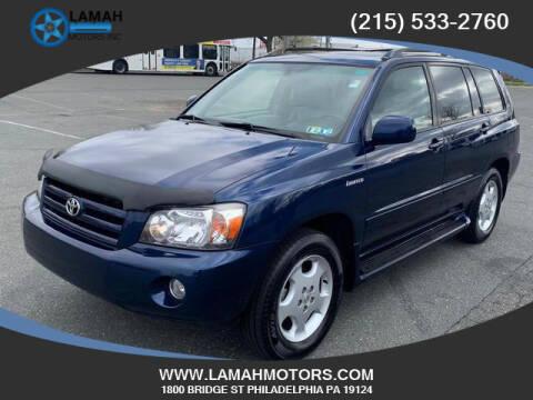 2004 Toyota Highlander for sale at LAMAH MOTORS INC in Philadelphia PA