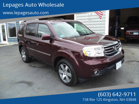 2013 Honda Pilot for sale at Lepages Auto Wholesale in Kingston NH