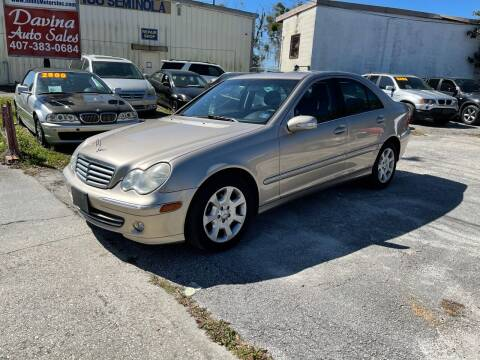 2005 Mercedes-Benz C-Class for sale at DAVINA AUTO SALES in Orlando FL