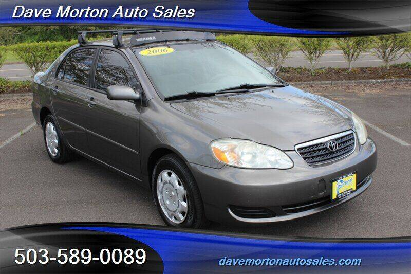 2006 Toyota Corolla for sale at Dave Morton Auto Sales in Salem OR