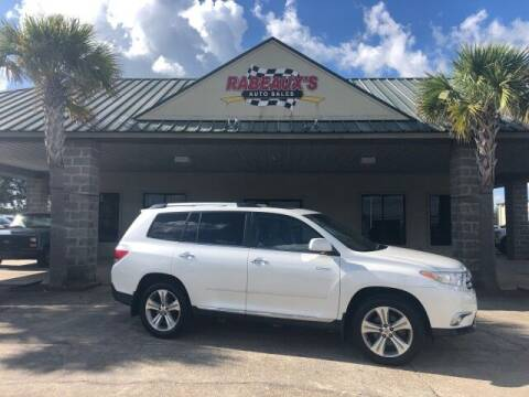 2012 Toyota Highlander for sale at Rabeaux's Auto Sales in Lafayette LA