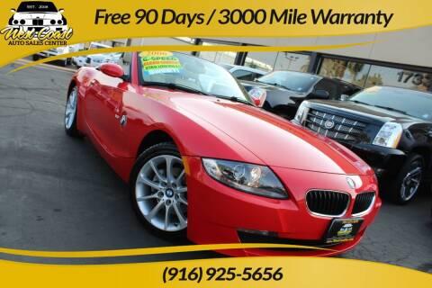 2006 BMW Z4 for sale at West Coast Auto Sales Center in Sacramento CA