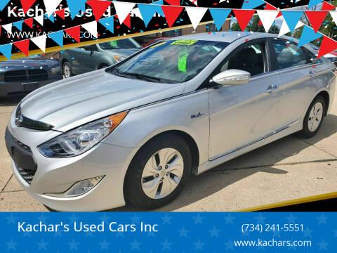 2015 Hyundai Sonata Hybrid for sale at Kachar's Used Cars Inc in Monroe MI