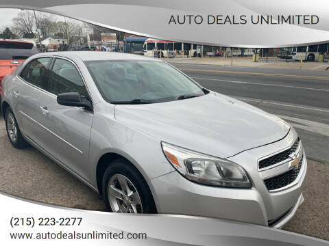 2013 Chevrolet Malibu for sale at AUTO DEALS UNLIMITED in Philadelphia PA