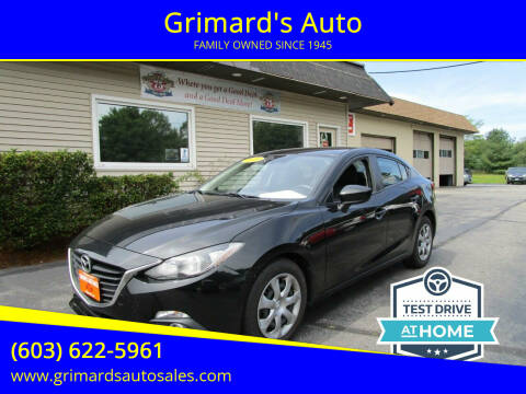2015 Mazda MAZDA3 for sale at Grimard's Auto in Hooksett NH