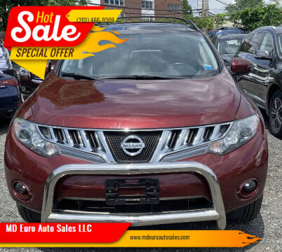 2010 Nissan Murano for sale at MD Euro Auto Sales LLC in Hasbrouck Heights NJ