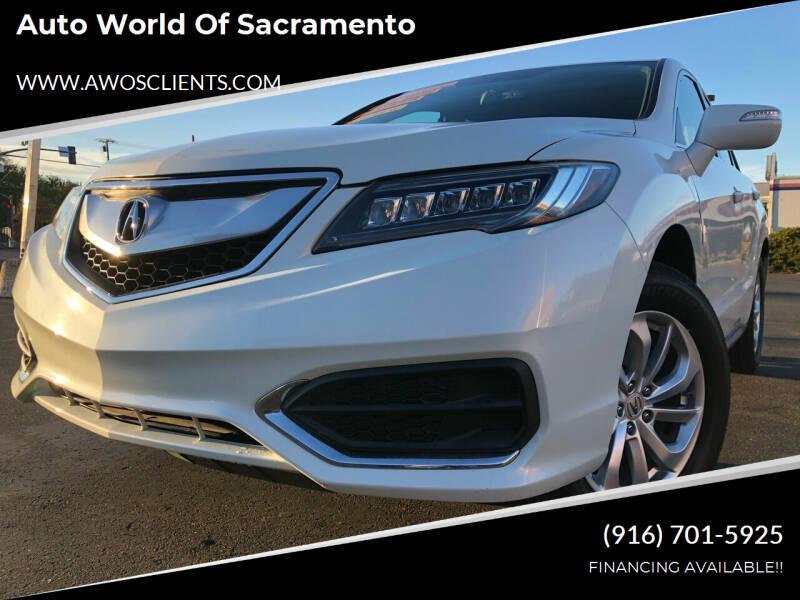 2016 Acura RDX for sale at Auto World of Sacramento Stockton Blvd in Sacramento CA