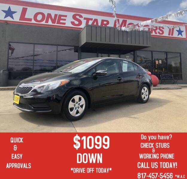 2016 Kia Forte for sale at LONE STAR MOTORS II in Fort Worth TX