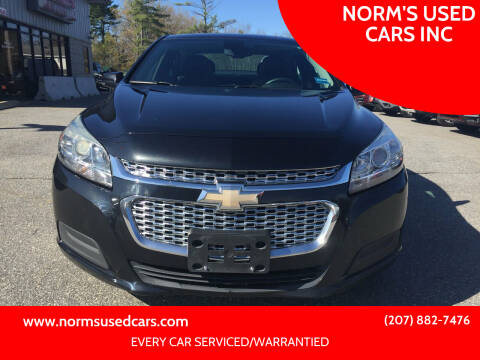 2015 Chevrolet Malibu for sale at NORM'S USED CARS INC in Wiscasset ME