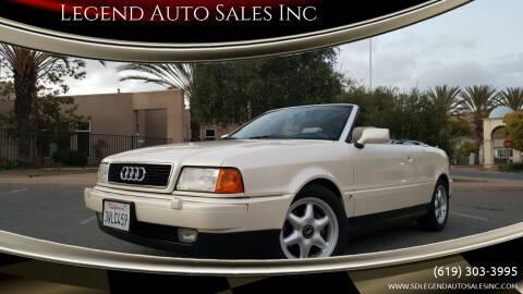1997 Audi Cabriolet for sale at Legend Auto Sales Inc in Lemon Grove CA