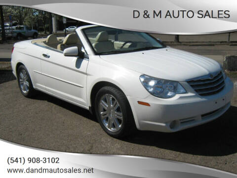 2008 Chrysler Sebring for sale at D & M Auto Sales in Corvallis OR