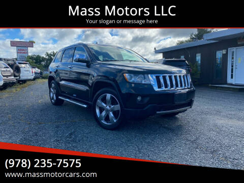 2013 Jeep Grand Cherokee for sale at Mass Motors LLC in Worcester MA