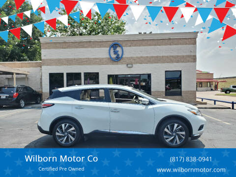 2016 Nissan Murano for sale at Wilborn Motor Co in Fort Worth TX
