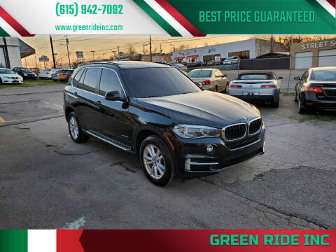 2014 BMW X5 for sale at Green Ride Inc in Nashville TN