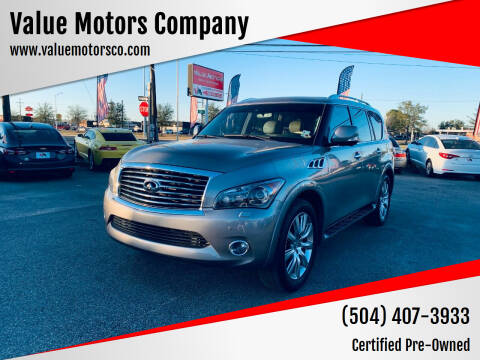 2012 Infiniti QX56 for sale at Value Motors Company in Marrero LA