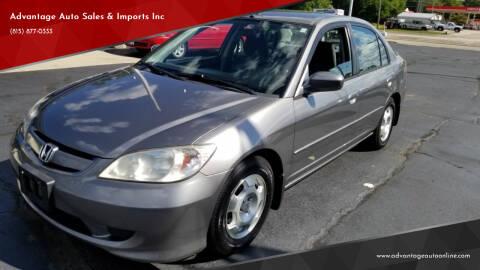 2005 Honda Civic for sale at Advantage Auto Sales & Imports Inc in Loves Park IL