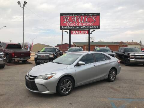 2015 Toyota Camry for sale at RAUL'S TRUCK & AUTO SALES, INC in Oklahoma City OK