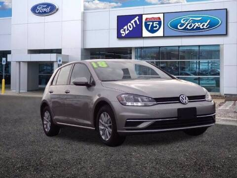 2018 Volkswagen Golf for sale at Szott Ford in Holly MI