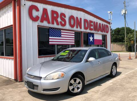 2012 Chevrolet Impala for sale at Cars On Demand 3 in Pasadena TX