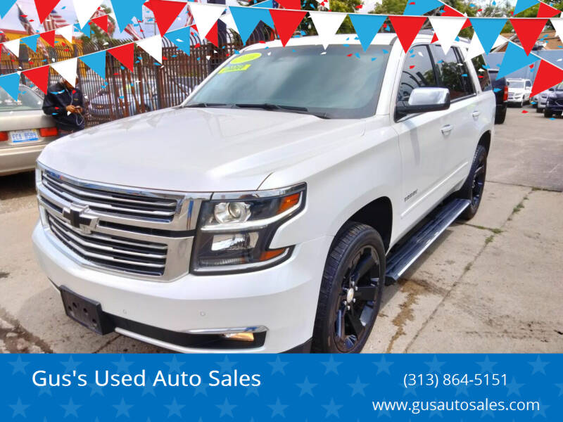 2016 Chevrolet Tahoe for sale at Gus's Used Auto Sales in Detroit MI