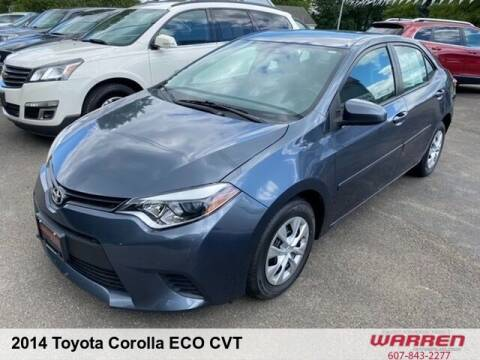 2014 Toyota Corolla for sale at Warren Auto Sales in Oxford NY
