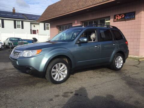 2011 Subaru Forester for sale at Pat's Auto Sales, Inc. in West Springfield MA