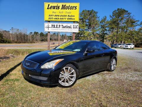2010 Infiniti G37 Coupe for sale at Lewis Motors LLC in Deridder LA
