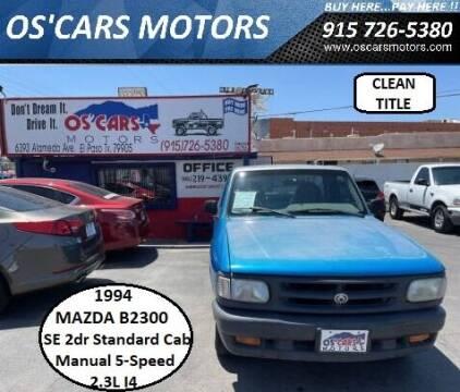 1994 Mazda B-Series Pickup for sale at Os'Cars Motors in El Paso TX