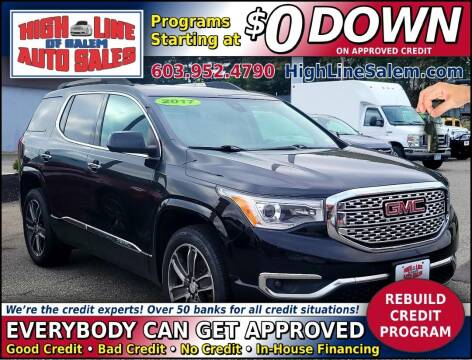 2017 GMC Acadia for sale at High Line Auto Sales of Salem in Salem NH
