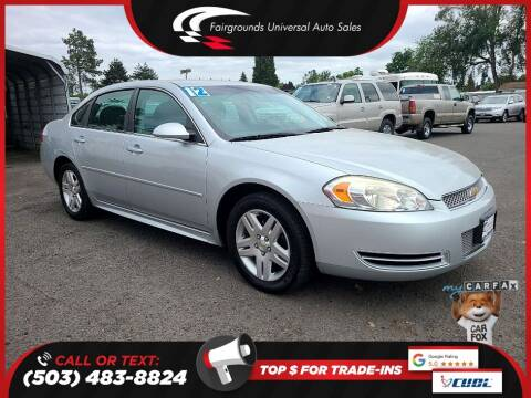 2012 Chevrolet Impala for sale at Universal Auto Sales in Salem OR