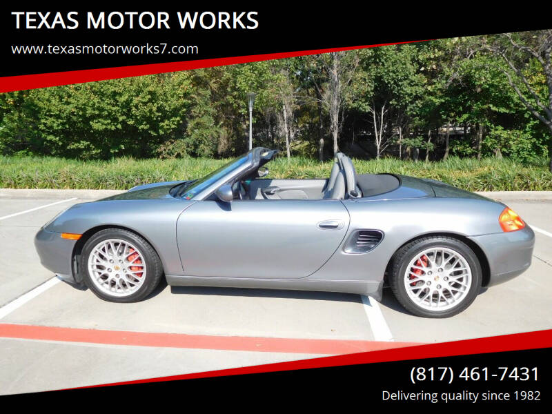 2002 Porsche Boxster for sale at TEXAS MOTOR WORKS in Arlington TX