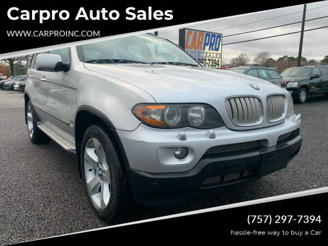 2006 BMW X5 for sale at Carpro Auto Sales in Chesapeake VA